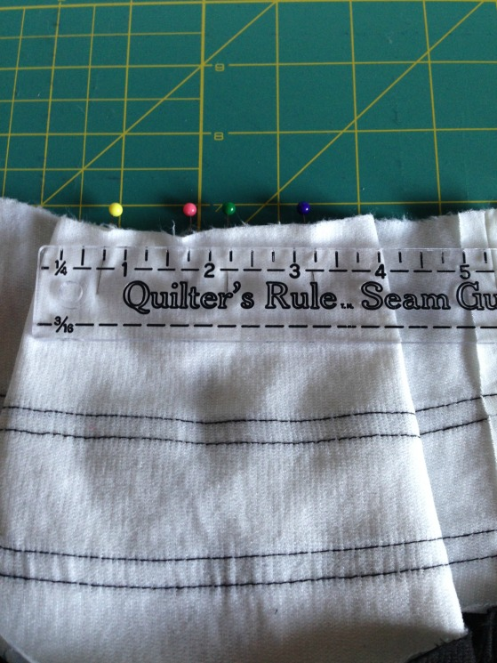 Refashioned Prom Dress into Pleated Skirt - Back of Pleat