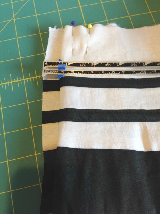 Refashioned Prom Dress into Pleated Skirt - Zipper Pleat