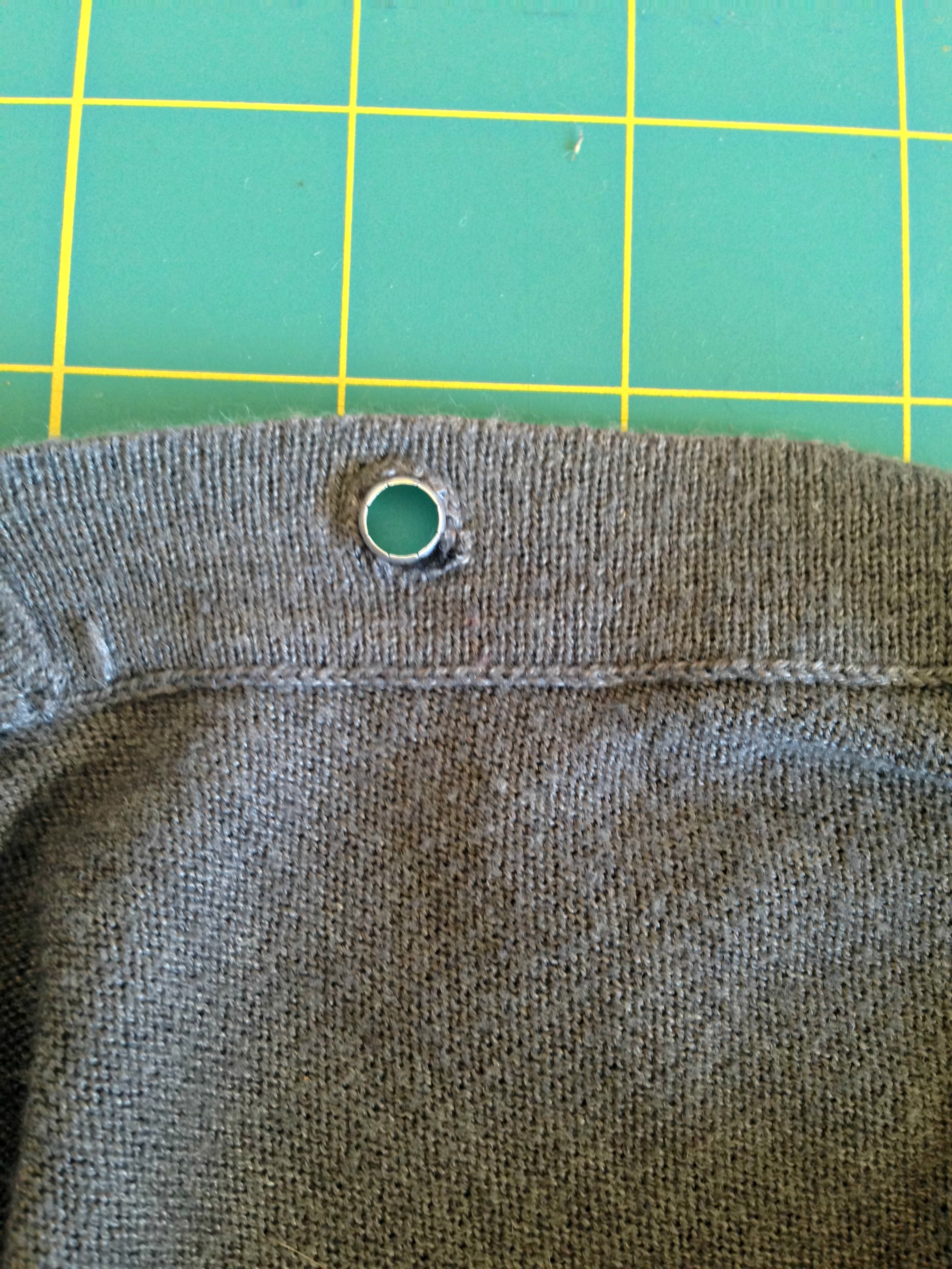 how to put grommets in fabric without tool