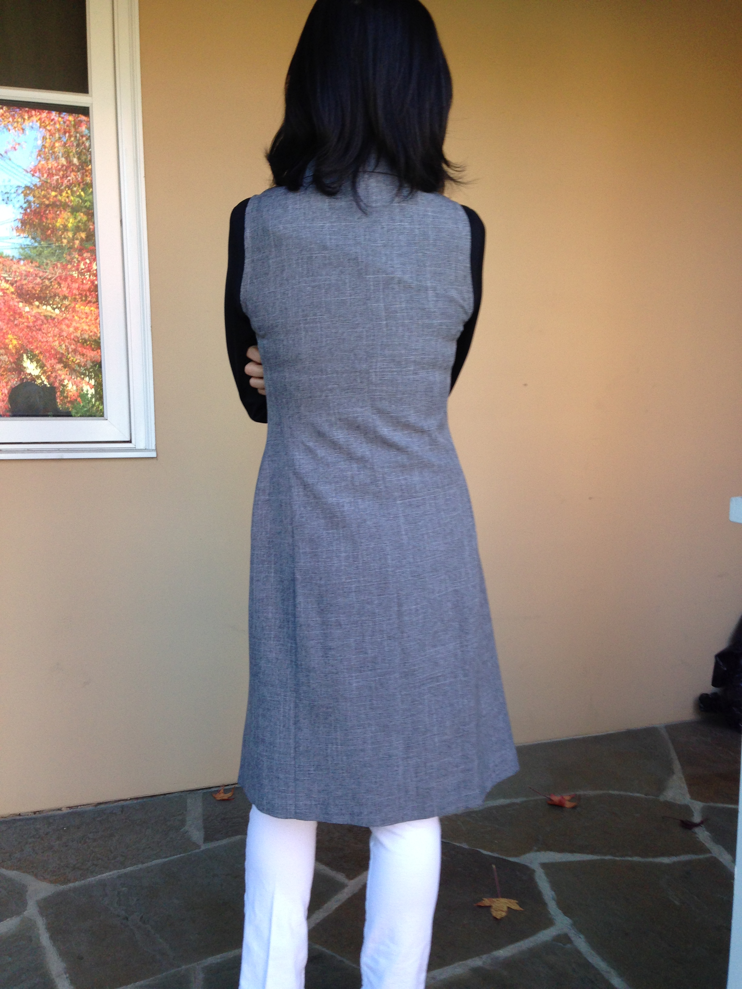 Refashioned Sleeveless Coat back view