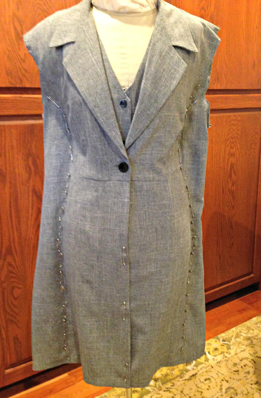 Refashioned Sleeveless Coat
