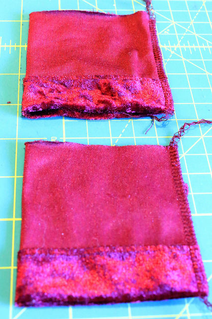 Make new cuffs for the split sleeve refashion.