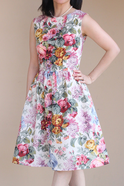 How to recycle a bed sheet into a vintage inspired spring dress.