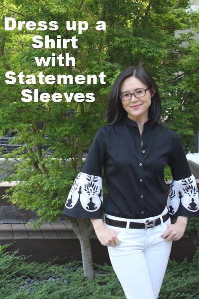 Add drama to a simple shirt with statement sleeves. My step by step tutorial shows how easy it is to add statement sleeves.